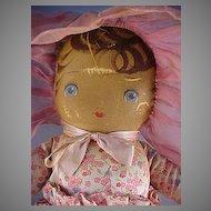 1930' Georgine Cloth Doll, all original