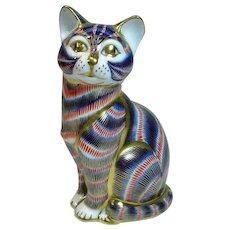 Vintage, Royal Crown Derby Bone China Cat
