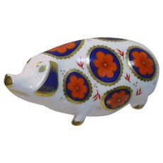 Vintage, Royal Crown Derby Bone China Hog