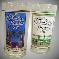 Pair of Breeders' Cup Commemorative Glasses from 1988 and 1991