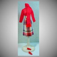 Mattel Vintage Francie Outfit, Midi Plaid, 1971