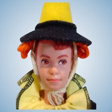 Vintage Mattel Allan Doll in Masquerade Outfit, 1964