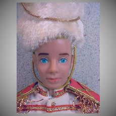Vintage Molded Hair Ken Doll in Drum Major, 1964