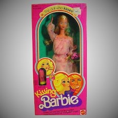 Mattel NRFB Kissing Barbie Doll 1979