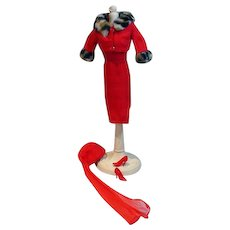 Vintage Mattel Barbie Outfit, Matinee Fashion Complete with Red Spikes, 1965