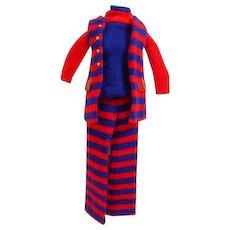 Vintage Mattel Francie Outfit, Striped Types, 1970