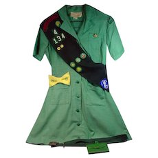 Vintage, Authentic Girl Scout Uniform and Accessories from late '50's/'60's