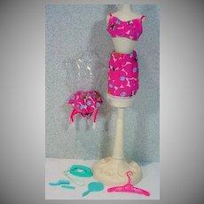 "Vintage,Mattel Barbie Outfit, ""Underprints"", from 1967."