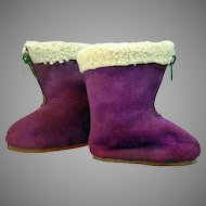 Pair of Vintage Doll Ski Boots, Amanda Jane, England, 1960's