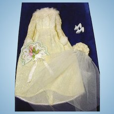 Vintage Mattel Barbie Outfit, Winter Wedding, 1969