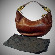 Vintage Brown Leather Gucci Purse with Dust Bag