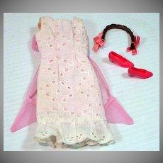 Vintage Mattel Francie Outfit, Summer Frost, 1967