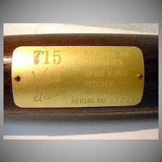 Hank Aaron Commemorative Bat, serial Number 17032