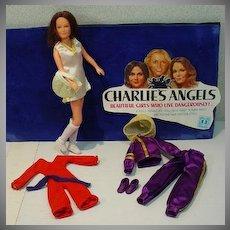 Hasbro Charlies Angels Sabrina Doll w/Clothing, 1970's