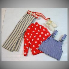 Vintage Mattel Ken Outfit, Red, White and Wild, 1972