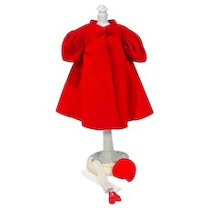 Vintage Mattel Barbie Outfit, Red Flare, 1962