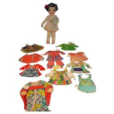 1930's Paper Doll with Clothing