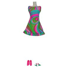 Vintage Mattel Barbie Outfit, Swirly-Cue, 1968