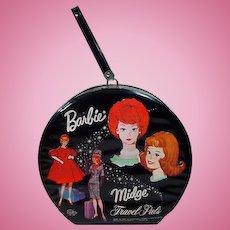 Vintage Barbie&Midge Travel Pals Hat Box Case, 1963, Mattel