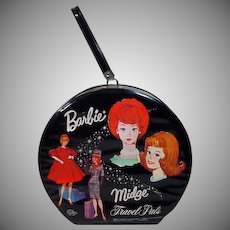 Vintage Barbie&Midge Travel Pals Hat Box Case, 1963, Mattel