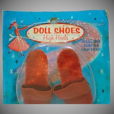 Mint in Package Madame Alexander Cissy Size Red High Heels, 1950's