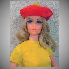 Vintage Mattel Live Action Barbie in 1970's Mod Outfit, 1971