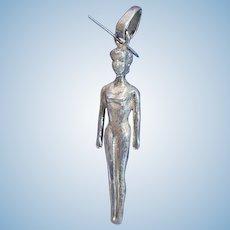 Sterling Silver Barbie Doll Pendant