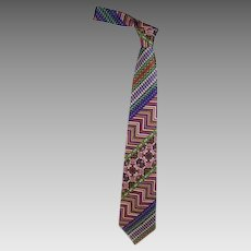 Beautiful Vintage Gianni Versace Men's Tie, 1980's