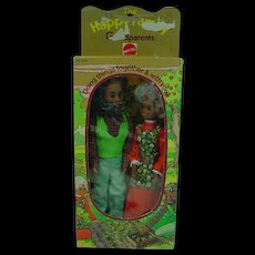 Vintage NRFB Mattel Happy Family Grandparents, African American, 1975 - Red Tag Sale Item