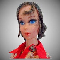 Vintage Mattel Brunette Talking Barbie, 1970