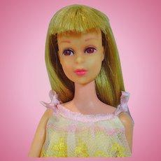 Mattel S/L Blond Francie Doll in Slumber Number, 1966-67