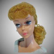 Vintage Mattel Barbie Ash Blond PonyTail, #6, 1963