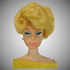 Mattel Lemon Blond Barbie Side Part Bubble, 1964