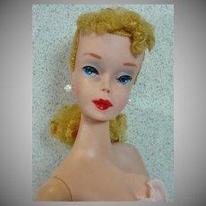 Striking #4 Barbie Blond Ponytail, Mattel, 1960