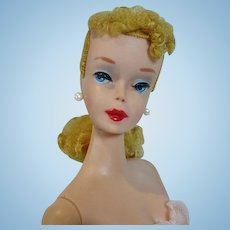 Striking #4 Barbie Blond Ponytail, Mattel, 1960