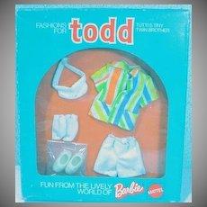 Vintage Mattel Todd NRFB Outfit, Well Dressed, 1974, European Market