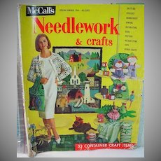Rare 1964 McCall's Needlework Magazine with Barbie and Ken