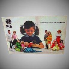 Rare 1960's Mattel French Fashion Booklet