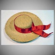 Vintage Madame Alexander Elise Size Straw Hat, 1950's