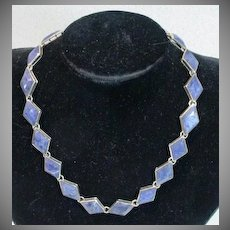 Vintage Mexican Sterling Silver and Lapis Necklace, 1960's