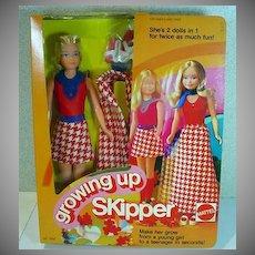 NRFB Vintage Mattel Growing-Up Skipper Doll, 1975