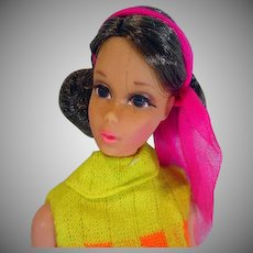 Vintage Mattel 1970 Walking Jamie Doll, Brunette