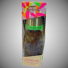 Vintage Faberge Straw Hat Spray Cologne Sealed in Box, 1960's