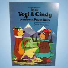 Yogi Bear and Cindy Un-Used Paper Doll Set, Wonder Books, 1974
