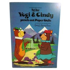 Yogi Bear and Cindy Un-Used Paper Doll Set, Wonder Books, 1974