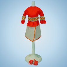 Vintage 1972 Mattel Barbie Outfit, Peasant Pleasant