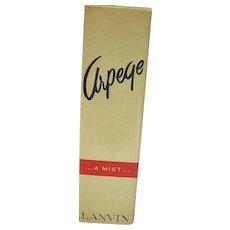 Vintage Lanvin Arpege Perfume Mist, Sealed