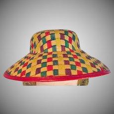 VIntage Madame Alexander Cissy Size Straw Hat, 1950's