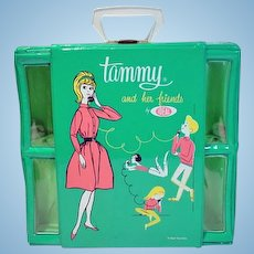 Rare Ideal Tammy and her Friends Vinyl Carry Case, 1960's