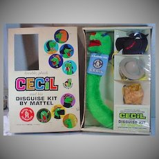 Mattel 1962 Cecil Disguise Kit, NRFB!!